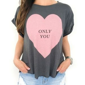 Wildfox Only You Graphic Tee